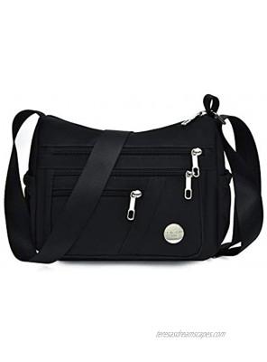 Anti Thief Crossbody Bag for Women Waterproof Shoulder Bag Messenger Bag Casual Nylon Purse Handbag