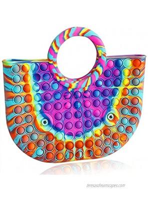 New Fidgets Pop Bag Pop Fidget Bag Pop Bubble Sensory Toy Utility Tote Bag Stress Relief New Fidget Purse Poppit Rainbow Pop Purse for Girls Women Kid Ideal Christmas Thanksgiving Birthday Gift