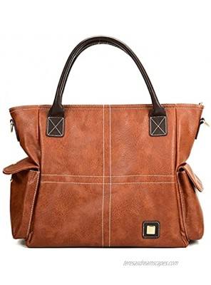 """23"""" Large Hobo Purses for Women Sturdy Top Handle Satchel Purses and Handbags Adjustable Strap Leather Tote Shoulder Bags"""