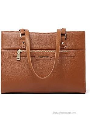 BOSTANTEN Women Leather Handbags Designer Satchel Purses Work Top Handle Shoulder Tote Bag for Travel Daily