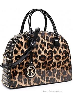Dasein Vegan Leather Purse Handbag Domed Satchel Bag Structured Shoulder Bag with Long Strap