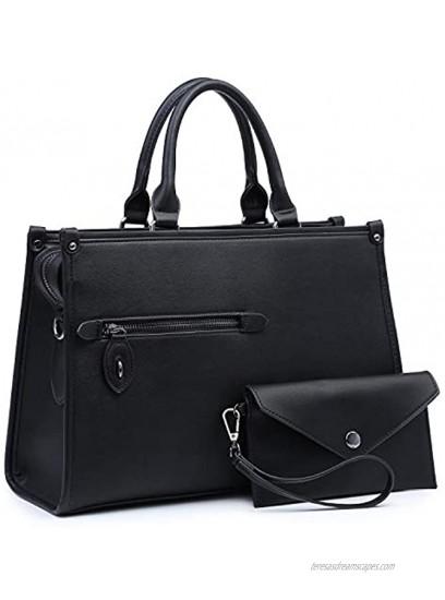 Dasein Women Purses Satchel Handbags Top Handle Bags Work Tote Hand Shoulder Bag With Long Strap Matching Wallet