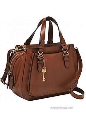 Fossil Women's Brooke Leather Satchel Purse Handbag