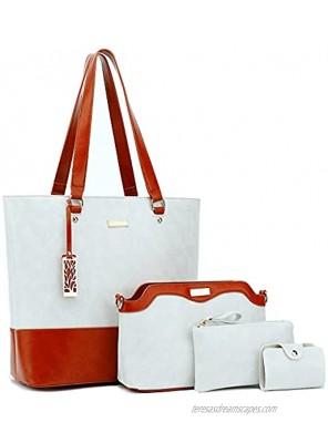 Gift Set Purses for Women Top Handle Satchel Handbags Shoulder Bag Messenger with Wallet Set Handbags for Women