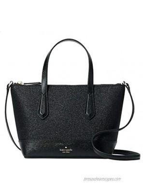 Kate Spade New York Lola Glitter Small Satchel Crossbody Bag Black