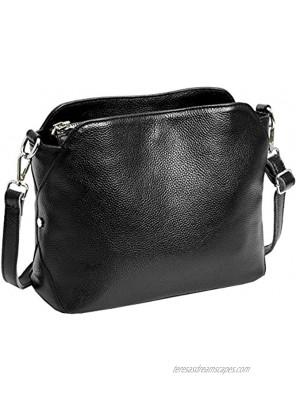 Leather Small Handbags Kenoor Shoulder Bag Hobo Ladies Purses Satchel Crossbody Bag for Office Lady