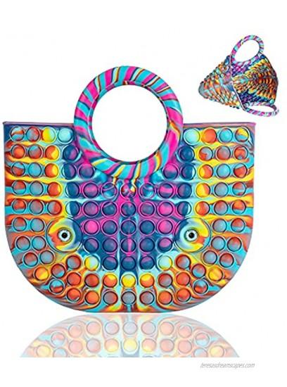 Pop Bag Pop Handbag for Women Fashion Ladies Silicone Top Handle Satchel Shoulder Tote Bags Fidget bag.