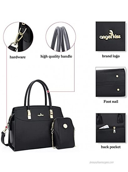 Purses and Handbags for Women Fashion Satchel Top Handle Work Tote Bags Crossbody Hobo Shoulder Bag with Matching Wallet