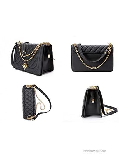 Small Quilted Crossbody Bags for Women Vegan Shoulder Bag Lightweight Satchel Fashion Designer Purses and Handbags