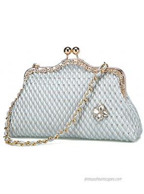 BGMIX Women's Evening Clutches Handbags Party Wallets Wedding Totes Satchel Purses Evening Purse Large Clutch Bag