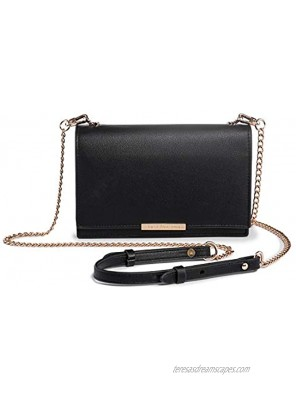 Katloo Crossbody Wallet Women PU Leather Cell Phone Purse Clutch Bag Chain Strap