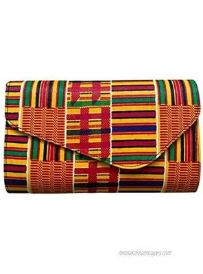 Kente Purse Ankara Handbag African Print Bag African Purse Kente Clutch