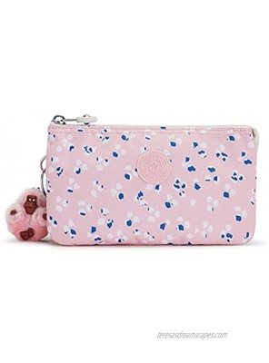 Kipling Creativity Large Printed Pouch Painterly Dots Pink