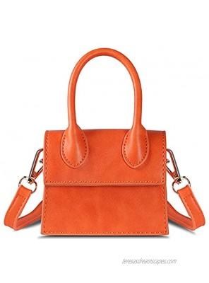 NIUEIMEE Mini Purse for Women Girls Top Handle Clutch Handbag Crossbody Bags
