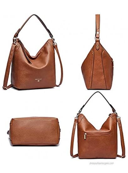 Hobo Bag for Women Vegan Leather purses and Handbags Shoulder Bag Large Crossbody Bags Soft Satchel Handbags