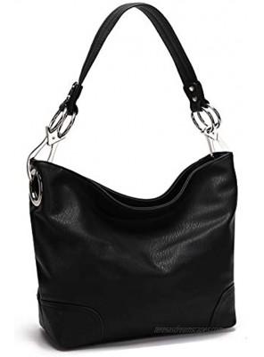 MKF Hobo Purses for Women – PU Leather Designer Hobo Shoulder Handbag – Top Handle Pocketbook