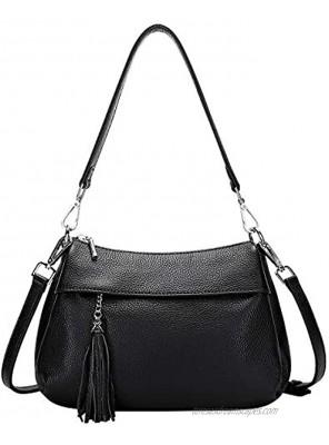OVER EARTH Genuine Leather Handbags for Women Crossbody Bag Ladies Shoulder Hobo Purse Small