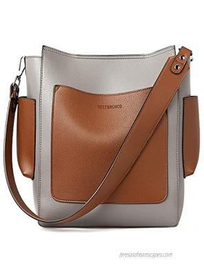 WESTBRONCO Handbags for Women Designer Tote Bag Large Ladies Shoulder Hobo Bag Crossbody Bucket Purses