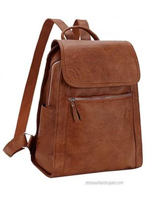 Backpack Purse for Women,Faux Leather Travel Bag Vegan Bookbag for Ladies Girls