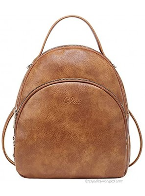 CLUCI Small Backpack Purse for Women Girls Cute Leather Backpack Mini Convertible Fashion Travel Shoulder Bag