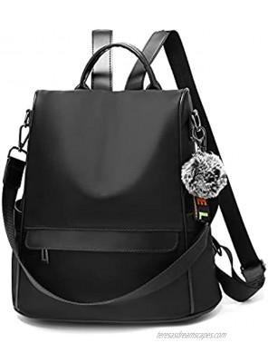 OUSIMEN Backpack Purse for Women Fashion Anti-theft School Purse and Handbags Shoulder Bags Nylon PU Rucksack
