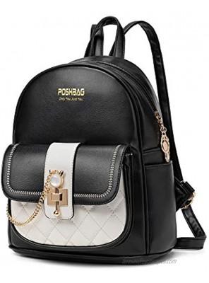 PoshBag Backpack Purse for Women Cute PU Leather Mini Backpack for Girls Small Satchel Shoulder Bag Handbag