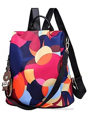 Women Anti-Theft Backpack Purse Waterproof Oxford Travel Bag Lightweight Ladies Shoulder Bags