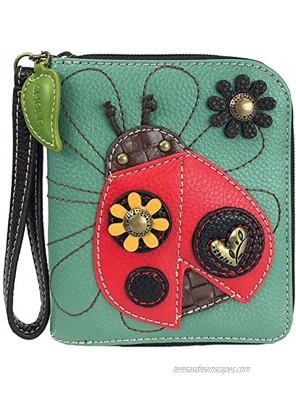 Chala Ladybug Zip-Around Wallet Wristlet