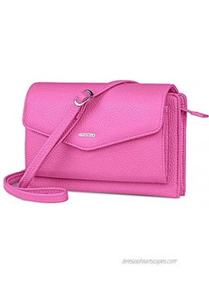 nuoku Wristlet Clutch Wallet Purse Small Crossbody Bags for Women With Cell phone Holder RFID 2 Straps
