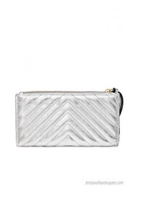 Victoria's Secret Sliver Gold Studded Slim Wristlet Wallet Sliver Gold Studded
