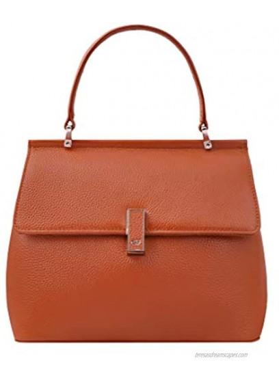Giorgio Ferretti Elegant Ladies Genuine Leather Satchel Handbag Soft Genuine Leather Satchel Handbag