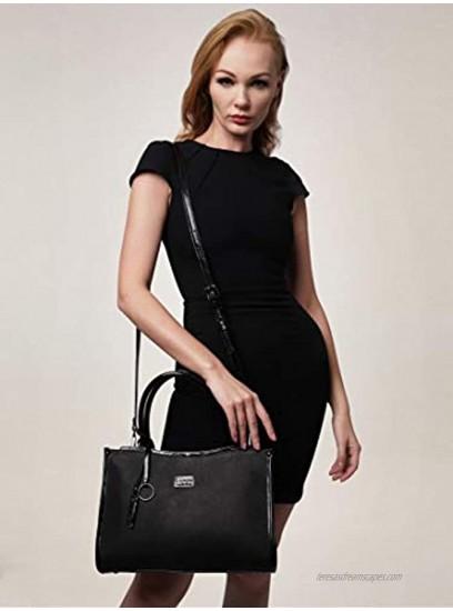 Giorgio Ferretti Elegant Ladies Genuine Leather Top Handle Handbag Women's Genuine Leather Handbag