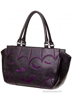 Lost Queen Bats Handbag Gotham Knight Bats Handbag Black Bat Purse