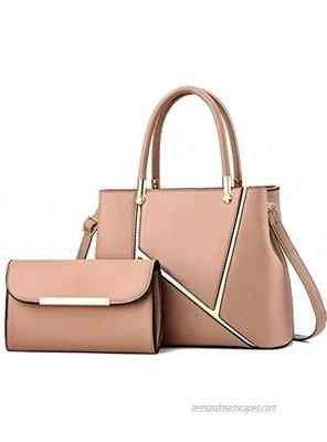 Women elegant fancy luxurious handbag with assorted pursekhaki Khaki