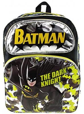 "Batman Large 16"" Full Size Backpack Dark Knight 21125"