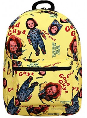 Chucky Classic Horror Movie Yellow All Over Print Tech Backpack