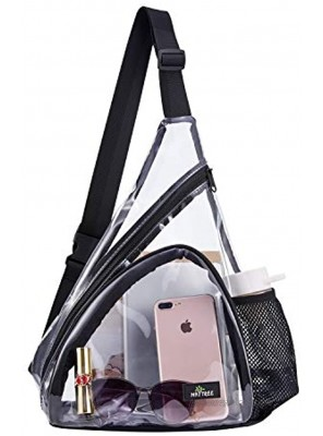 Clear Sling Bag Stadium Approved Transparent Shoulder Cross body Backpack Perfect for Work Travel Stadium and Concerts