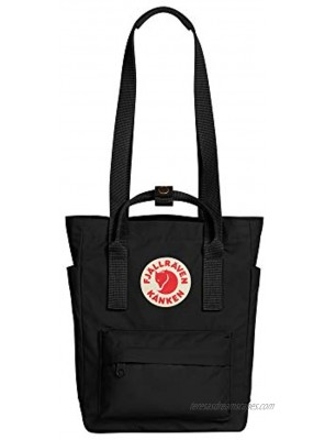 Fjallraven Kanken Totepack Mini Backpack with Tablet Sleeve for Everyday Use and Travel Black