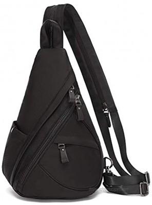 Nylon Sling Bag Small Crossbody Backpack Shoulder Casual Daypack Multipurpose Rucksack for Men Women