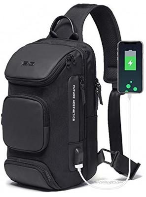 OZUKO Sling Backpack Sling Bag Crossbody Backpack Shoulder Casual Daypack Rucksack for Men