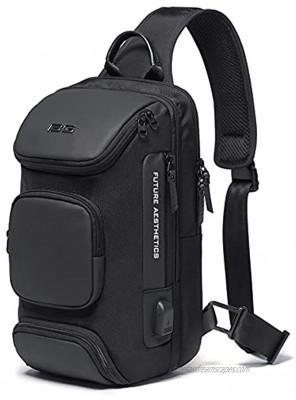 Sling Bag Shoulder Crossbody Sling Backpack with USB Charging Port Waterproof Travel Hiking Outdoor Chest Daypack