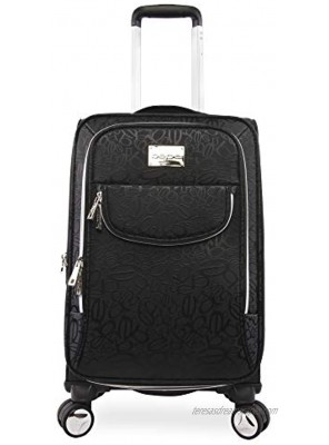 BEBE Women's Carissa 21 Expandable Spinner Carry Tossed Black One Size