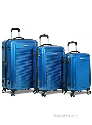 Dejuno Venture New Generation 3-Piece Hardside Spinner TSA Lock Blue One Size