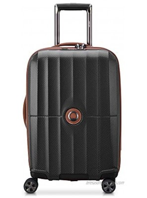 DELSEY Paris St. Tropez Hardside Expandable Luggage with Spinner Wheels Black Carry-on 21 Inch