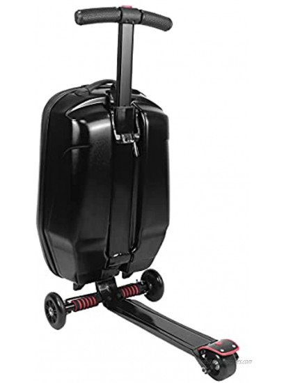 EC Homelife 21 Foldable Luggage Scooter Ride-on Suitcase for Adults Carry on Trolley Case for Travel Airport Business School