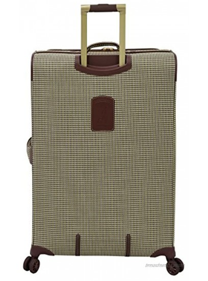LONDON FOG Cambridge II Softside Expandable Spinner Luggage Olive Houndstooth Carry-On 20-Inch