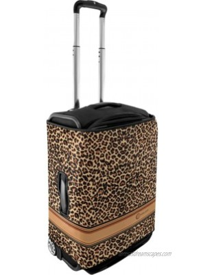 Luggage Protector Pattern: Brown Leopard Size: Small