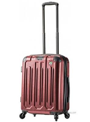 Mia Toro Italy Lustro Hardside Spinner Carry-on Burgundy One Size