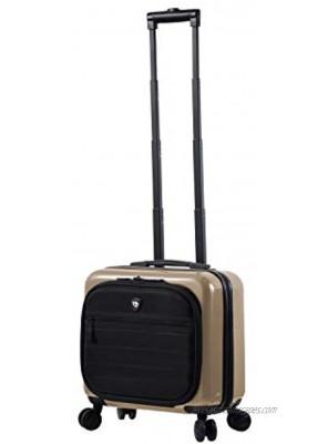 Mia Toro Mia Catena Italy Hardside Spinner 14 Inch Companion Bag Pearl One Size