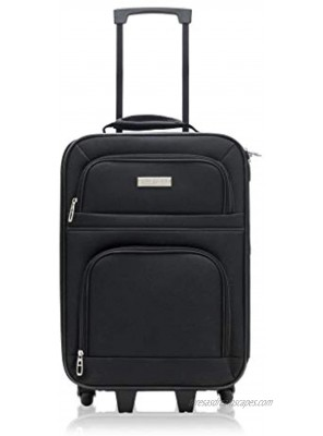 Millennium by Travelway 18in Compact Wheeled Rolling Carry-on 20 Inch length with wheels Black